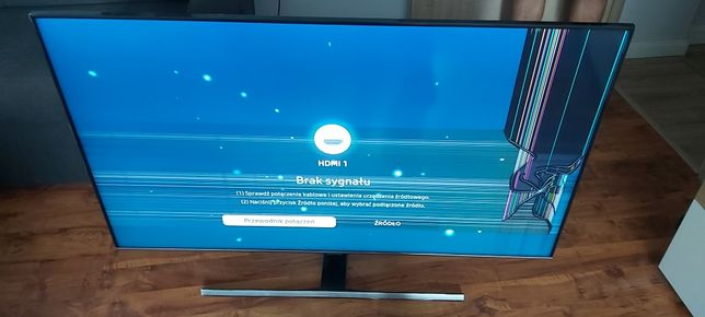 Tv Samsung QLED QE55Q77TAT uszkodzony