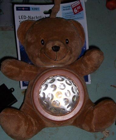 """светодиодный ночник медведь, мягкая игрушка мишка """" Тедди """" Ideen welt"""