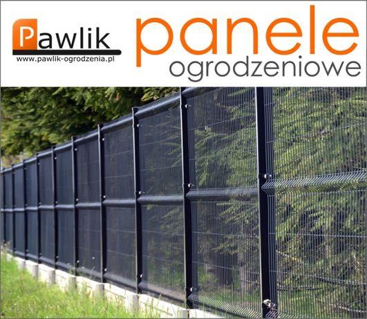 Panele ogrodzeniowe 4mm 153 + 25cm kompletne przęsło 2,5m panel