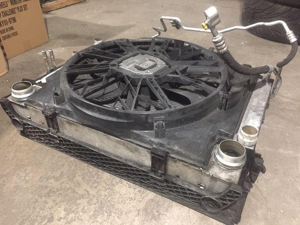 пакет охлаждения м47н2 е60 е90 2.0д бмв касета радиаторов вентилятор