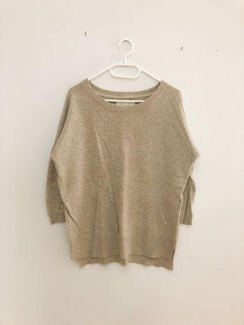 Beżowy sweter sweterek H&M 36 S