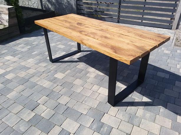 Stół ogrodowy dębowy loft