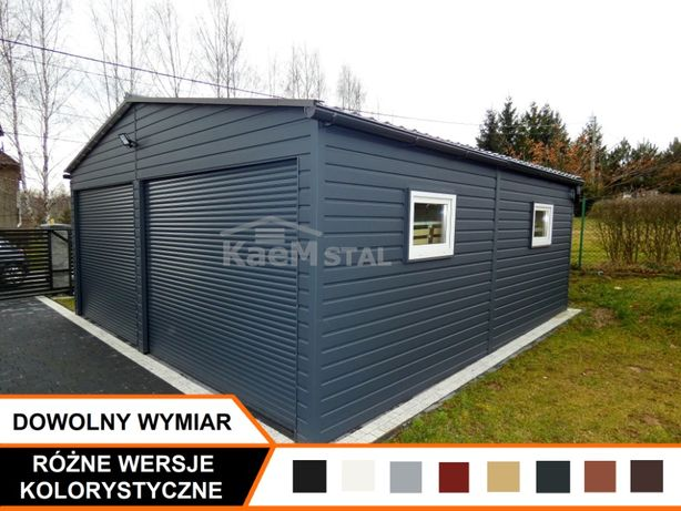 Garaż blaszany metalowy każdy wymiar! Garaże drewnopodobne i akrylowe