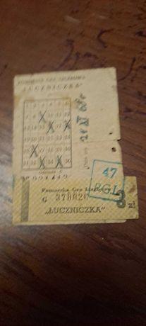 Kolekcjonerska Prl pomorska gra liczbowa  ŁUCZNICZKA 1968r