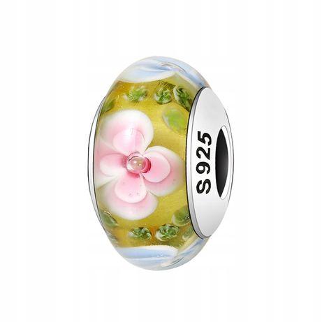 Charms Murano Kwiat do Pandora srebro 925