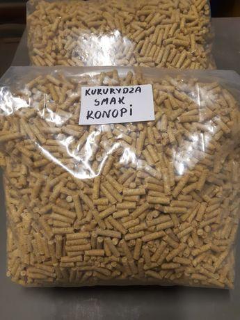 Pellet wędkarski kukurydziano-konopny
