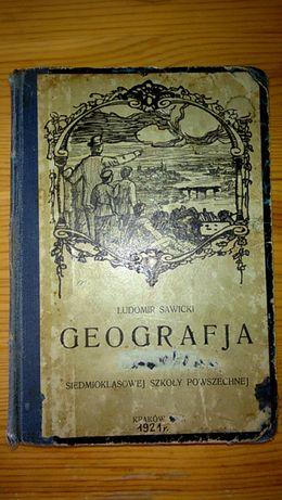 Geografja Ludomir Sawicki 1921r
