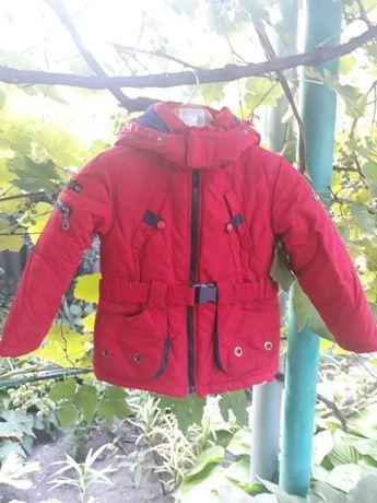 Куртка зимняя для девочек/мальчиков р.110