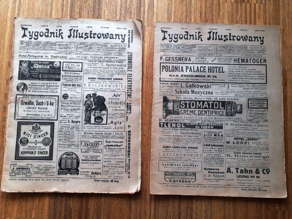Tygodnik Ilustrowany numer 35 i 36 rok 1913. dwie sztuki. Warszawa - image 1
