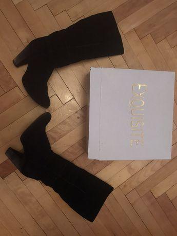 Сапожки,чоботи замшевие 38 размер