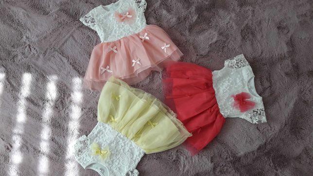 Letnie sukienki dla dziewczynki na okazje, roczek 1-2lata