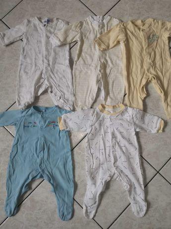 Paka dla noworodka. Ubranka dla chłopca. 0-3 miesiąca. Śpioszki, body