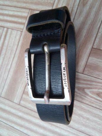 Настоящий фирменный ремень Wrangler из натуральной кожи 85см длиной