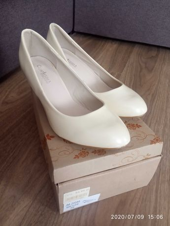 Eleganckie ładne buty na obcasie roz.39
