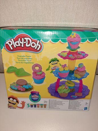 Play-Doh набор для лепки. Башня из кексов