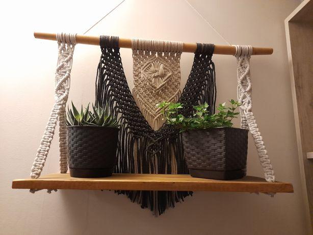 Makrama, półka, dekoracja ścienna