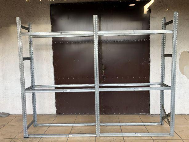 Regał ocynkowany do opon używany z demontażu magazynowy