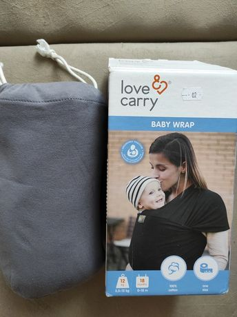 Трикотажный слинг шарф Love and Carry