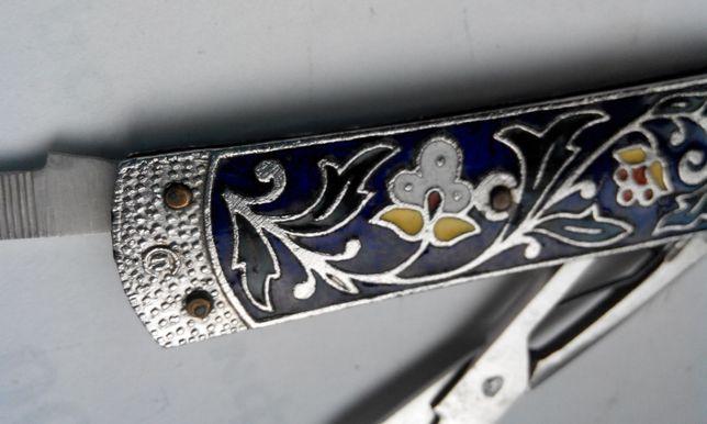 Складной нож-мини СССР,винтаж,эмаль,редкий, рабочий,в коллекцию.