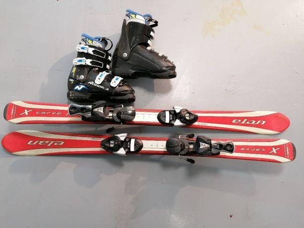Narty Elan 110cm buty narciarskie Nordica 23.5cm baza 270 rozm. 34 35