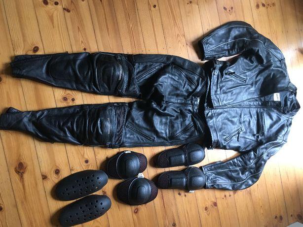 kurtka, spodnie, rękawice skórzene Probiker