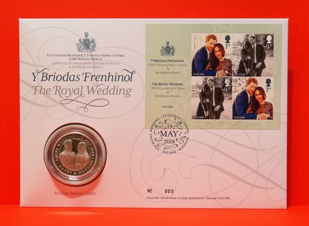 Royal Wedding, ślub królewski, moneta, znaczki, znaczek, Harry Meghan