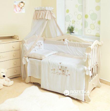 Комплект в ліжечко (ковдра, подушка, бортики і постіль)