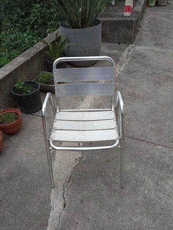 7 Cadeiras de alumínio para exterior, esplanada ou jardim.