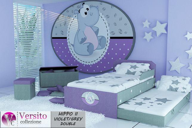 Łóżko piętrowe-niskie,wysuwane,łóżko dla dziecka tapicerowane,materace