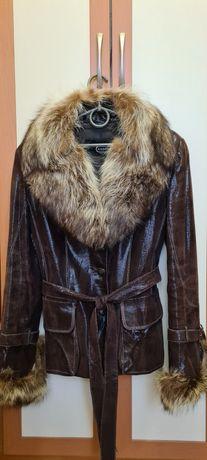 Женская кожаная куртка (мех съёмный)