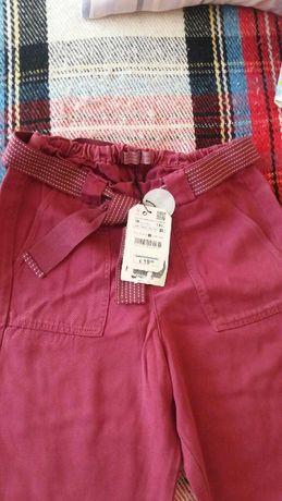 Spodnie bordo buraczek Zara