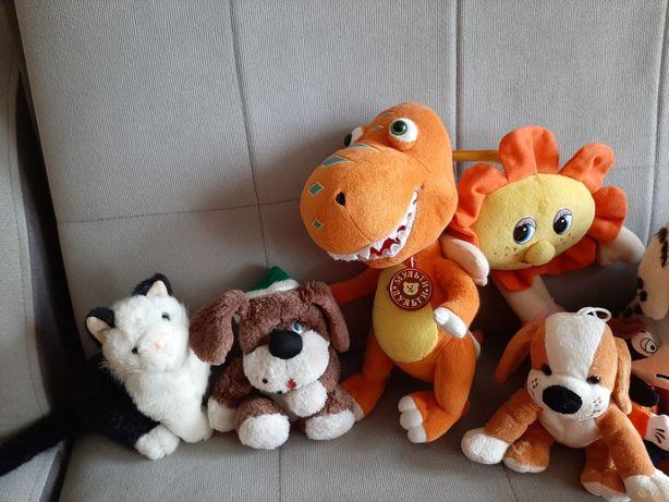 Динозавр Бади, касса, собачка, котик, мозаика, мягкие игрушки