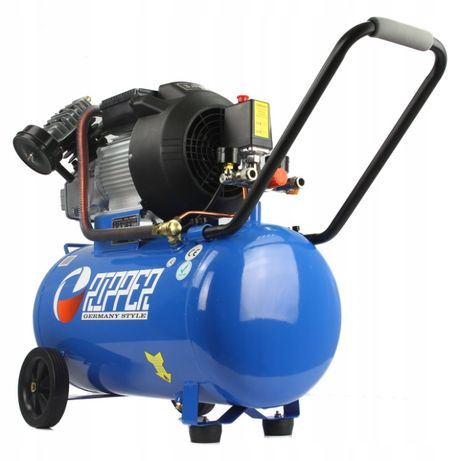Kompresor sprężarka 50l 8bar 3hp wydajność efektywna 250l/min