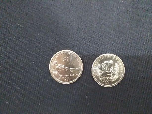 Монети 1 долар Сакагавея