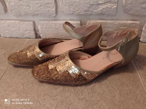 Туфли детские (для девочки) нарядные, золотистые, 31 р