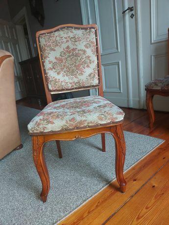 Krzesło drewniane tapicerowane 4 szt 400
