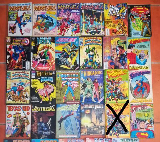 19 livros grossos Super-heróis Marvel e DC