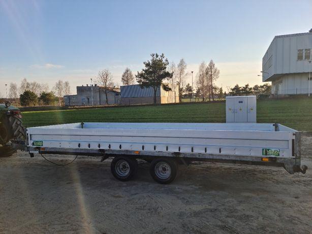 Laweta UNSINN platforma płaska 2t aluminiowa burty 4.5m