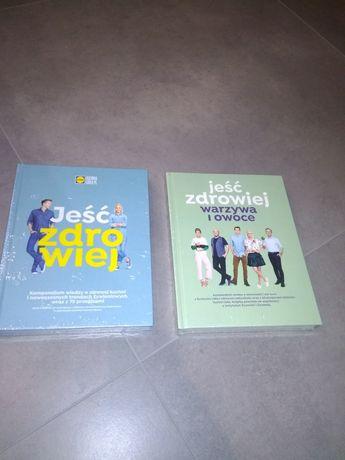 2 nowe książki Lidla jeść zdrowiej + ,warzywa i owoce