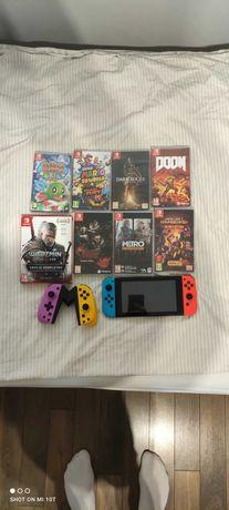 Konsola Nintendo Switch V2 + gry i pad Jak Nowe