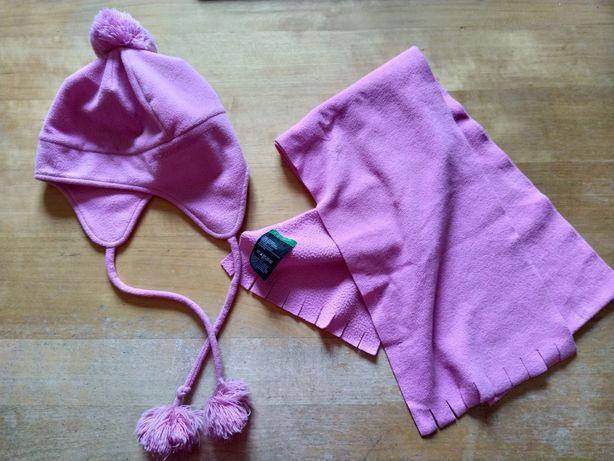 United Colors of Benetton, zestaw czapka i szalik, różowy
