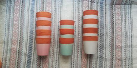 Doniczki małe cermiczne kolorowe pastelowe