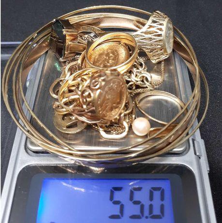 Stare ZŁOTO BIŻUTERIA 585 PIERŚCIONEK złota bransoletka złoty łańcuch