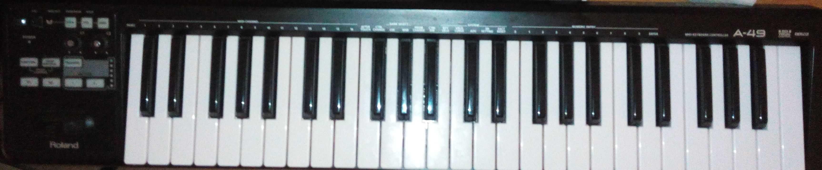 Teclado Midi Roland A-49 em excelente estado (Ideal para compositores)