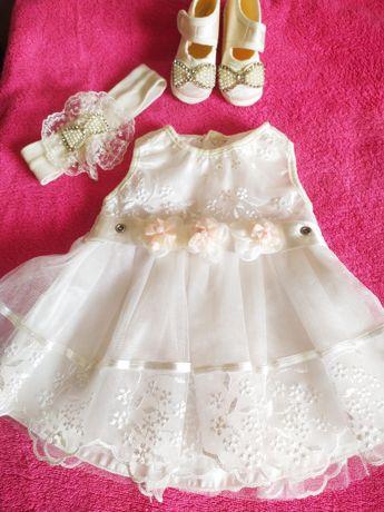 Продам шикарное платье с наборчиком на крестины