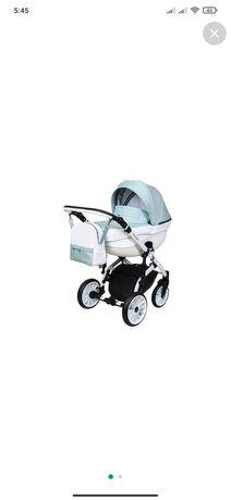 Детская коляска 2 в 1 Angelina Amadeo мятная люлька и прогулочная
