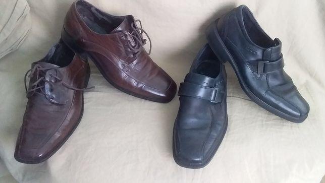 Туфли мужские, кожа натуральная-ecco-40; Hessels-43; оригинал