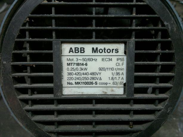 Silnik 3 fazowy 0.3 kW
