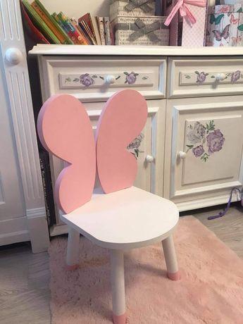 Stolik i krzesełko motyl