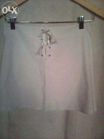 юбка белая летняя короткая